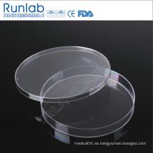 Placa de Petri de cultivo de plástico desechable de 150 * 15 mm con aprobación CE