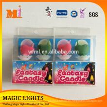 Color que cambia la vela de la llama para la decoración de la torta