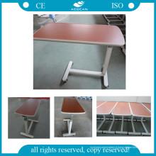AG-Obt001 sur la table d'hôpital de surface en bois de table de lit
