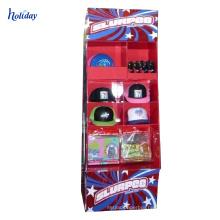 custom wholesale 3 tier floor cardboard stationery display stands supermarket display ideas/stationery display rack