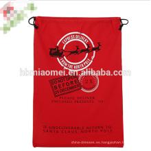 2017 nuevo diseño de Papá Noel bolsa de Lona Pesada Orgánica Bolsa de Cordón xmas niños Regalo de Navidad Bolsas de Santa Saco