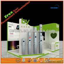customised modular exhibition booth display stand display stall trade fair booth