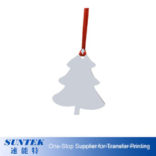 High Definition MDF OEM Printable Christmas Hanging Gift Blank Wooden Sublimation Christmas Ornaments in Different Shapes