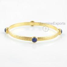 18k Gold blaues Lapis Armband, Großhandelslieferant für Edelstein-Armband-Schmucksachen für Frauen