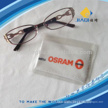 eyeglass cleaning cloth with logo printing