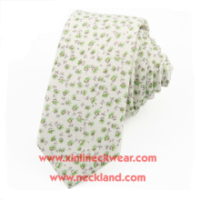 Cotton Printed Chinese Floral Necktie
