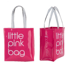 High-quality waterproof  mirror  leather pu handle beach bag  women's tote bag