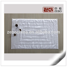 100% Cotton Custom Hotel Bathroom Used Jacquard Style White Bath Mat