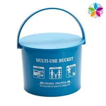 Round Plastic Storage Bucket with Handle (SLT001)