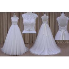 Блестящие пользовательских кружева свадебное платье