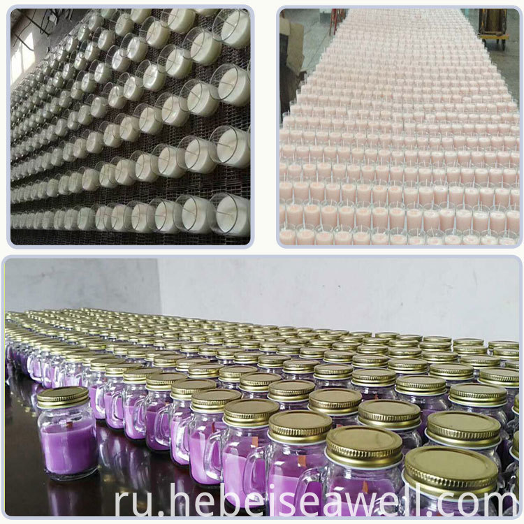 Vanilla and Lavender Mixed Scented Glass Candles with Lid