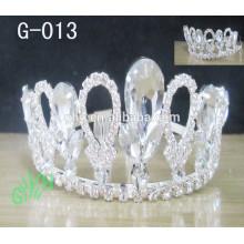 Nova moda Queen crown Trendy casamento cristal Glitter Silver Tiara jóias