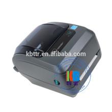 Tissu ruban de satin de fer étiquette de soin de vêtements sur l'impression d'étiquettes GK 420T zebra printer