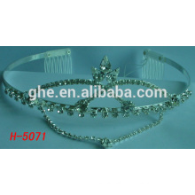 led light tiara pink tiara sliver crystal crowns wholesale pageant beauty queen crystal tiara for sale