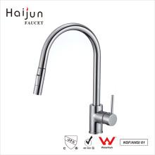 Haijun Manufacturer Prices Long Neck Deck Mounted Single Handle Brass Faucet