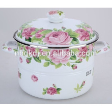 stainless steel enamel cooking steamer pot with bulb handle