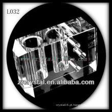 Vaso de cristal duplo buraco