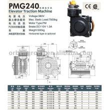 Máquina de tracción de ascensor (serie PMG)