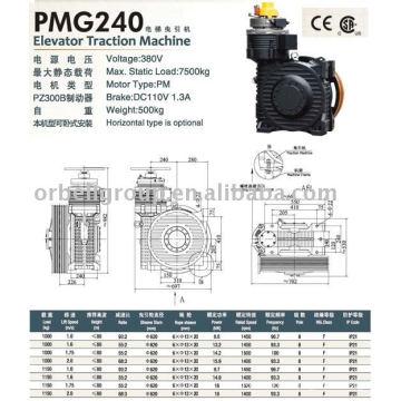 Лифтовая тяговая машина (серия PMG)