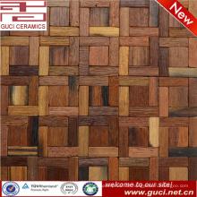 heißes Designproduktquadrat mischte feste Holzmosaikfliese für Wand