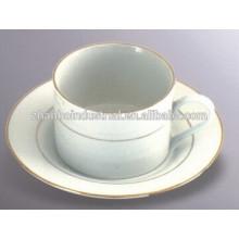 220cc taza de café de porcelana fina y juego de té platillo