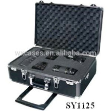 strong aluminum camera case with wheels