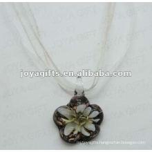 2014 hot sales Lampwork Glass Pendant Necklace Lampwork glass Necklace glass vial pendant with wax cord