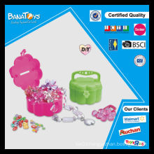 2015 girl toy with pdq box diy bead set toy