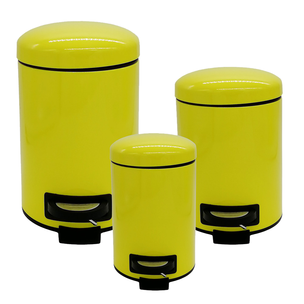 Pedal Bin Set Of 3 Pcs Yellow