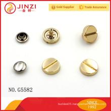 Fashion hardware gold color rivets and studs for women handbag