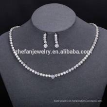 conjunto de jóias por atacado de jóias de india conjunto de jóias de luxo simples exibe