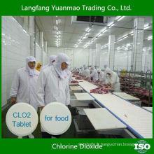 Tablette de dioxyde de chlore désinfectant à haute efficacité pour la ligne de traitement des aliments