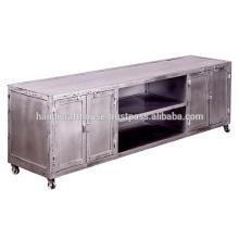 Industrial Metallic Wide 4 Door TV stand