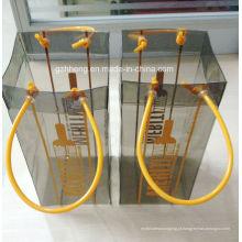 Impressão quente de plástico saco de PVC para vinho (saco de vinho)