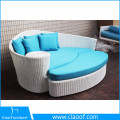 Contemporary outdoor furniture coastal rattan sunbed