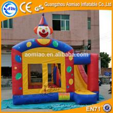 Bouncer inflável ao ar livre pequeno combinado com corrediça