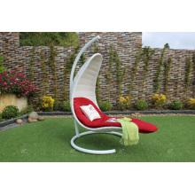 Silla elegante del oscilación de Rattan de Polye para los muebles al aire libre del mimbre del patio del jardín