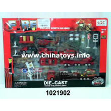 Adorável novo carro de metal fogo definir brinquedos menino (1021902)