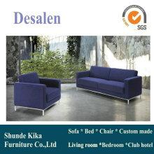 Синий цвет кожаный диван, диван для офиса, офисная мебель (8512)