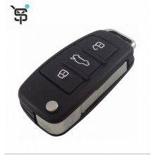 Top Quality 3 Button Key Case Folding Remote Car Key Shell Replacement For Audi  YS200506