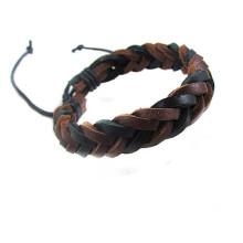 Handmade Adjustable Vintage Wristband cuir corde tissé Couple Bracelet tribal tressé bracelet manchette