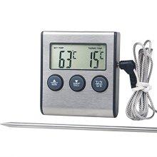 Sonda de aço inoxidável grande termômetro digital de cozinha
