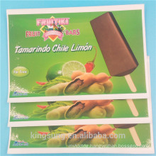 wholesale PANTONE color printing removable food label sticker with lamination