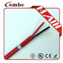 18 AWG 2/C Solid FPLR Riser Rated Non-Shielded Fire Alarm Cable Red 1000'