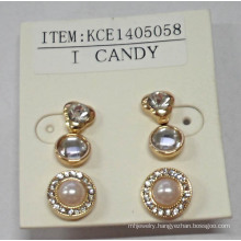 Set Earring with Metal for Fashion Beauty