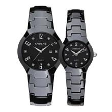Высокое качество черный и белый роскошный пара керамические часы