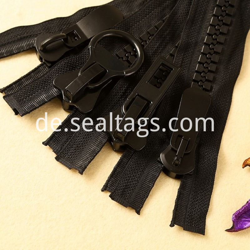 Black Specialty Zippers