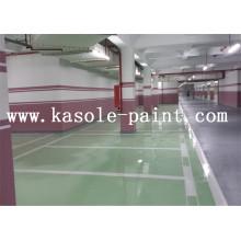 Green parking lot epoxy floor