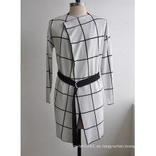 Popular Cardigan Coat Mujer Suéter con cinturón