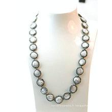 Bijoux à la mode et élégante Collier de perles baroques fraîches pour Lady Party